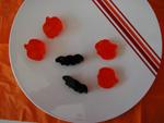 Black Cherry Fruit Bats and Citrus Orange Pumpkin Fruit Cutouts at Stone Oak Orthodontics in San Antonio TX