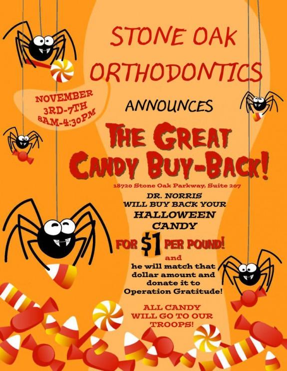 Stone Oak Orthodontics 2014 Candy Buy Back