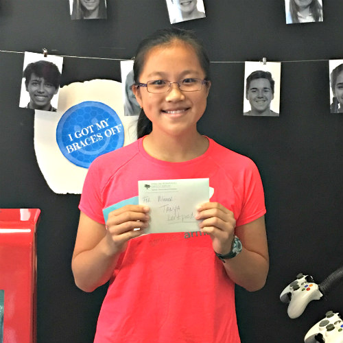 Geography Quiz Winner at Stone Oak Orthodontics in San Antonio